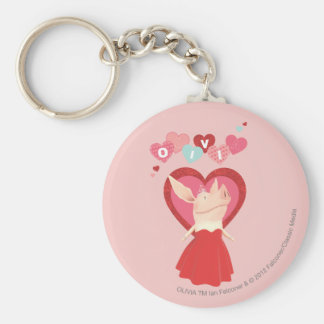 Olivia in Red Dress Keychain