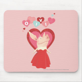 Olivia in Red Dress Mouse Pad