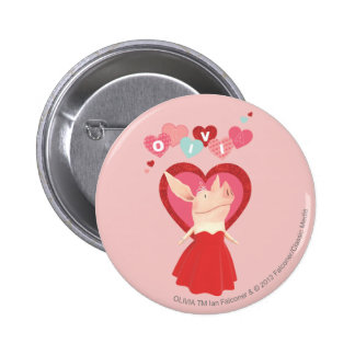Olivia in Red Dress Pinback Button