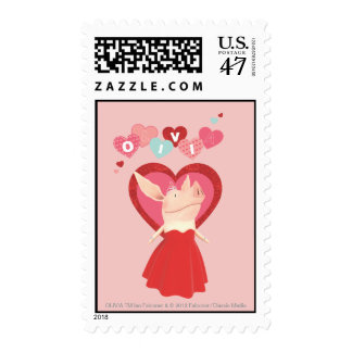 Olivia in Red Dress Postage