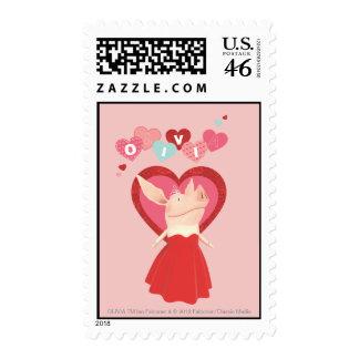 Olivia in Red Dress Stamp
