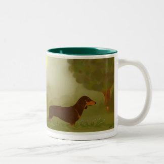 Olivia In The Mist Two-Tone Coffee Mug