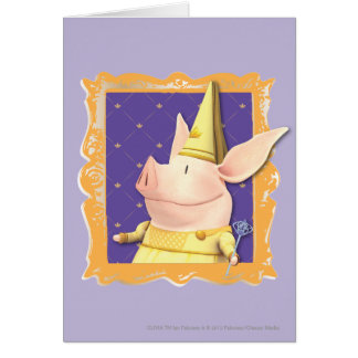 Olivia - in Yellow Frame Greeting Card