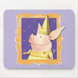 Olivia - in Yellow Frame Mouse Pad