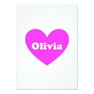 """Olivia Invitación 5"""" X 7"""""""