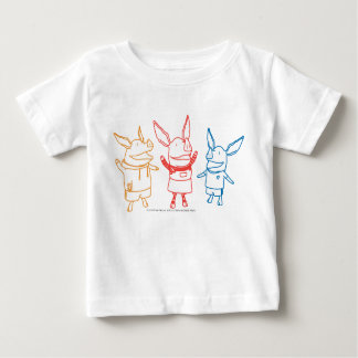 Olivia, Julian, and Ian Cheering Baby T-Shirt