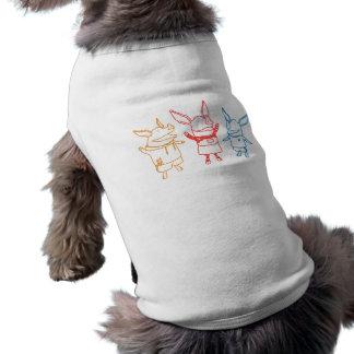 Olivia, Julian, and Ian Cheering Dog Tshirt