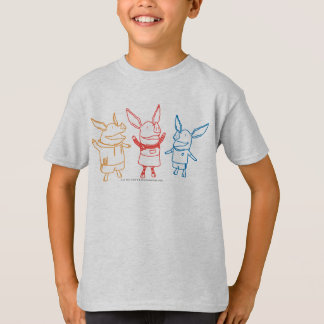 Olivia, Julian, and Ian Cheering T-Shirt