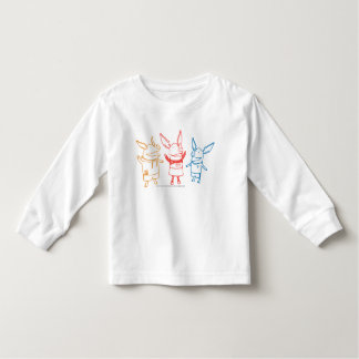 Olivia, Julian, and Ian Cheering Toddler T-shirt