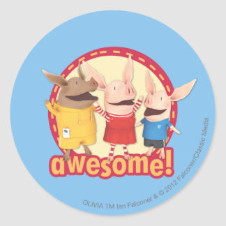 Olivia, Julian, Ian - Awesome! Classic Round Sticker