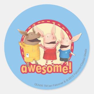 Olivia Julian Ian - Awesome Round Sticker