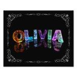 Olivia - la Olivia conocida en 3D se enciende (fot Impresión Fotográfica