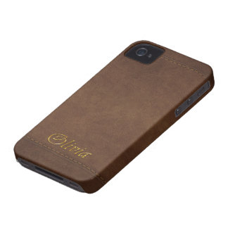 OLIVIA Leather-look Customised Phone Case