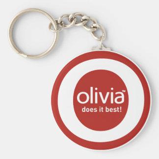 """""""Olivia lo hace mejor """" Llavero Redondo Tipo Pin"""