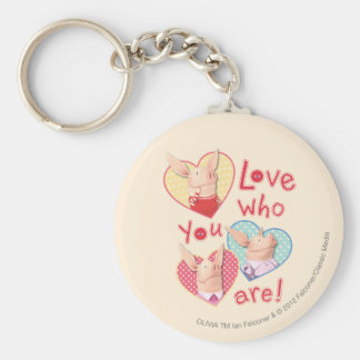 Olivia - Love Who You Are Basic Round Button Keychain