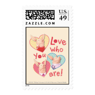 Olivia - Love Who You Are Postage Stamp