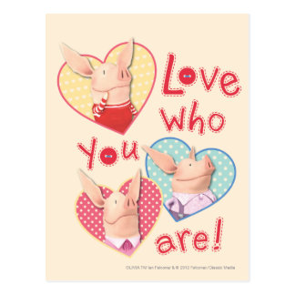 Olivia - Love Who You Are Postcard