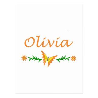 Olivia (mariposa anaranjada) tarjetas postales