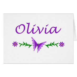 Olivia (mariposa púrpura) tarjeta pequeña