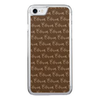Olivia - Modern Calligraphy Name Design Carved iPhone 8/7 Case