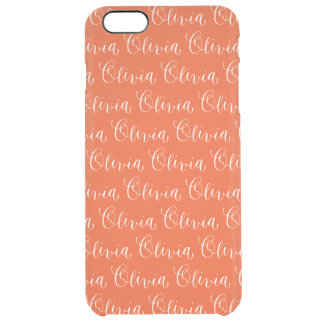 Olivia - Modern Calligraphy Name Design Clear iPhone 6 Plus Case