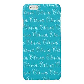 Olivia - Modern Calligraphy Name Design Glossy iPhone 6 Case