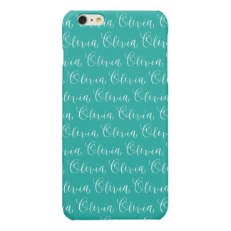 Olivia - Modern Calligraphy Name Design Glossy iPhone 6 Plus Case