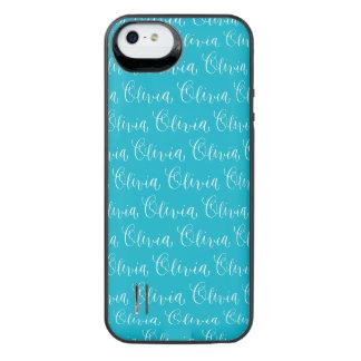 Olivia - Modern Calligraphy Name Design iPhone SE/5/5s Battery Case