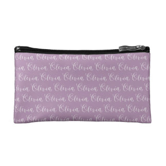 Olivia - Modern Calligraphy Name Design Makeup Bag