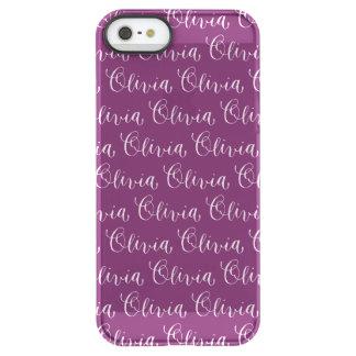 Olivia - Modern Calligraphy Name Design Permafrost iPhone SE/5/5s Case