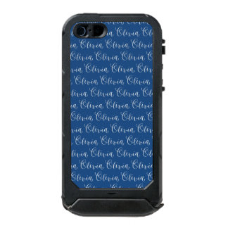 Olivia - Modern Calligraphy Name Design Waterproof iPhone SE/5/5s Case