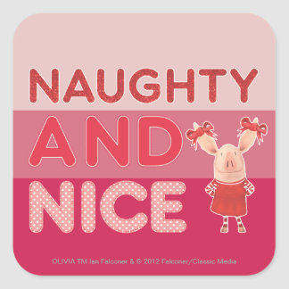 Olivia - Naughty and Nice Square Sticker