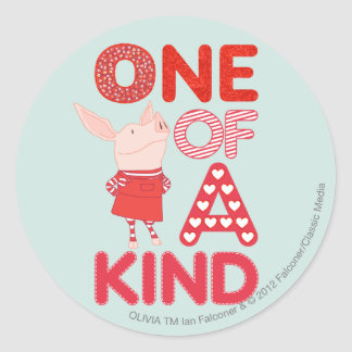 Olivia - One of a Kind Classic Round Sticker