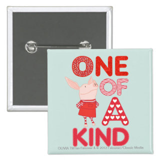 Olivia - One of a Kind Pinback Button