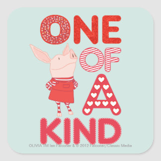 Olivia - One of a Kind Square Sticker