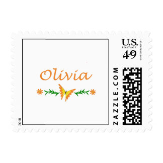 Olivia Orange Butterfly Stamps