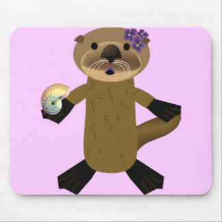 Olivia Otter Mouse Pad