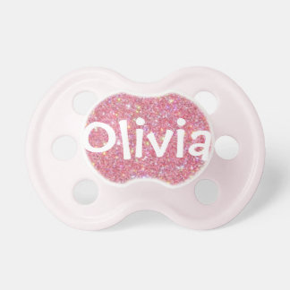 Olivia Personalized Name Glitter Pacifier