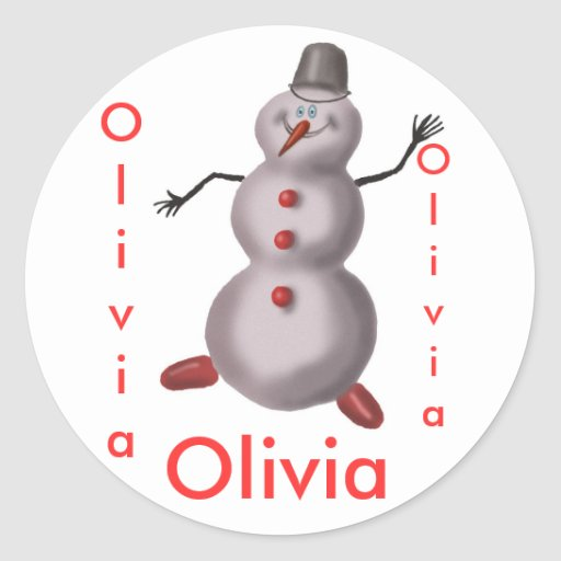 Olivia personalized stickers