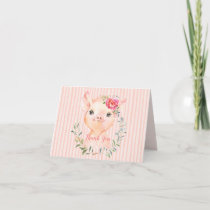 Olivia Pigsley Baby Shower Thank You Card