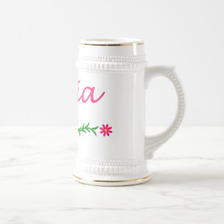 Olivia (Pink Butterfly) Beer Stein