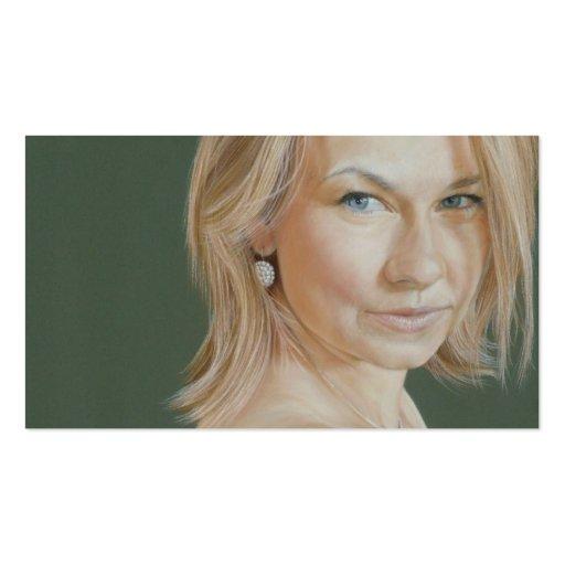 Olivia Portrait by David Wells Business Card