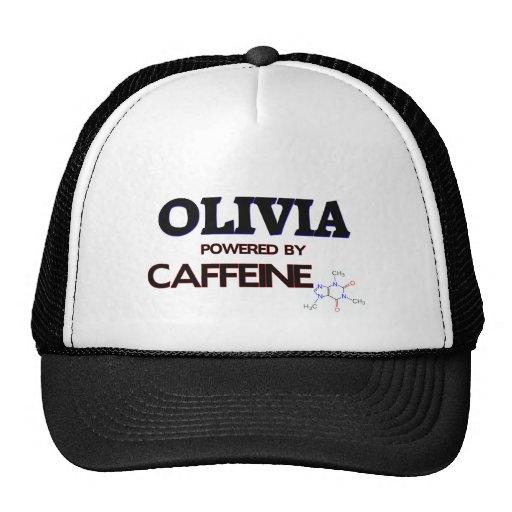 Olivia powered by caffeine trucker hat