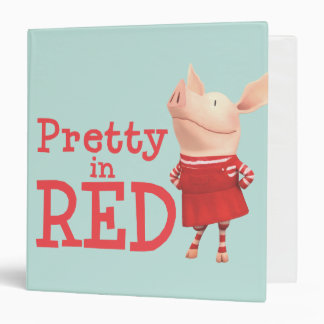 Olivia - Pretty in Red Binder