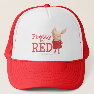 Olivia - Pretty in Red Trucker Hat