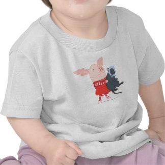 Olivia que detiene a Edwin el gato Camiseta
