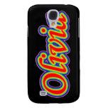 Olivia - Rainbow - On Black Samsung Galaxy S4 Cover