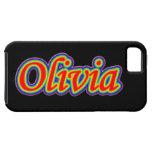 Olivia - Rainbow - On Black iPhone 5 Covers