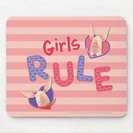 Olivia - regla de los chicas tapetes de raton