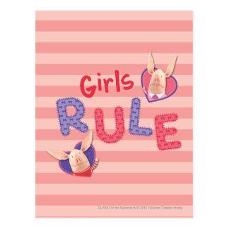 Olivia - regla de los chicas tarjeta postal